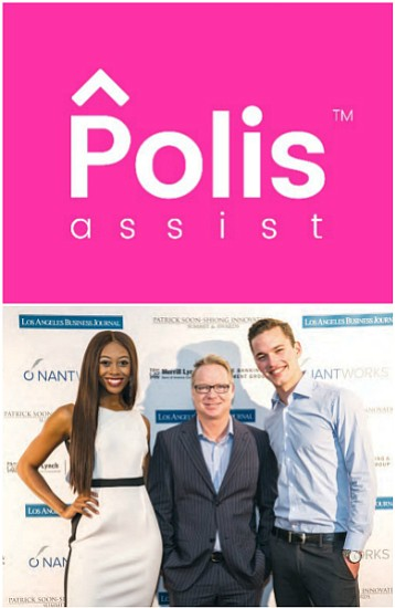 Finalists Brittney Sharaun, Dennis Baker and Kurt Gabriel of Polis Assist