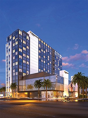 The new InterContinental San Diego hotel is slated to open in late 2018. Photo and rendering courtesy of InterContinental Hotels Group.