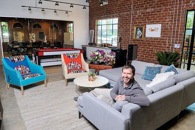 John Tabis in his company's new Marina Del Rey space.