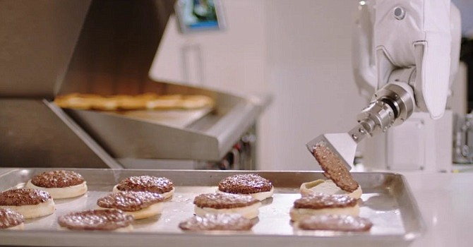 "Pasadena-based Miso Robotics' burger-flipping robotic arm, ""Flippy,"" which is in use at Dodger Stadium and fast-food restaurants."