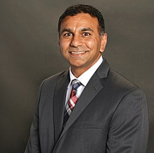 """""""Speaking to other physicians, peer to peer, goes a lot further than an administrator telling a physician what do,"""" said Rakesh Patel, a family physician-turned-CEO of Neighborhood Healthcare. Photo courtesy of Neighborhood Healthcare"""