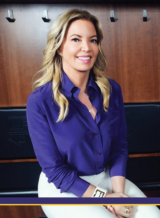 Jeanie Buss, controlling owner and president of the Los Angeles Lakers
