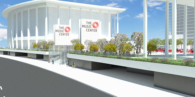 Rios Clementi Hale Studios' rendering of Music Center Plaza