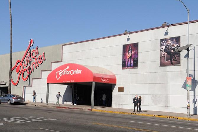 Guitar Center location on Sunset Boulevard.