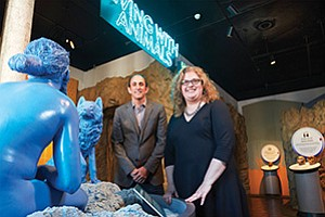 Micah Parzen and Tabitha McMahon, San Diego Museum of Man. Officials aim to create unique experiences.