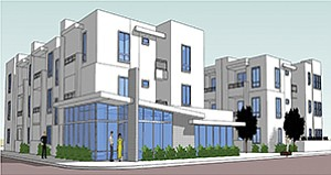 Construction has started on a Normal Heights apartment complex for homeless veterans. Rendering courtesy of the San Diego Housing Commission