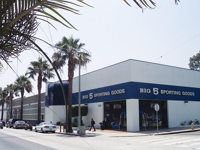 Big 5 storefront, Santa Monica, CA.