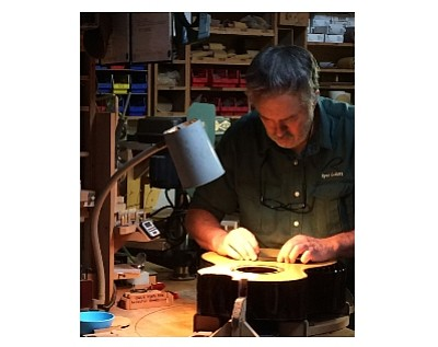 Luthier Kevin Ryan at work