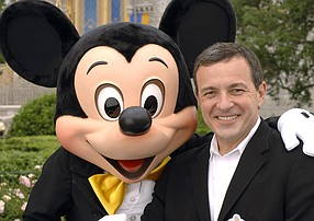 Walt Disney Co.'s Mickey Mouse and Robert Iger.