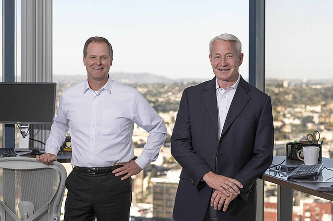 Steve Sefton, at left, and Dan Yates are president and CEO of Endeavor Bank. (Photo courtesy of Endeavor Bank)