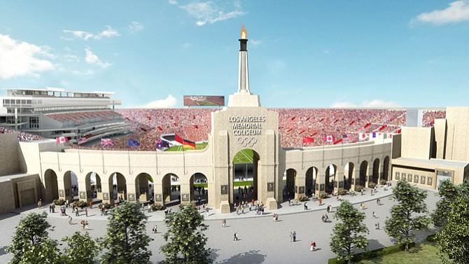 L.A. Memorial Coliseum.
