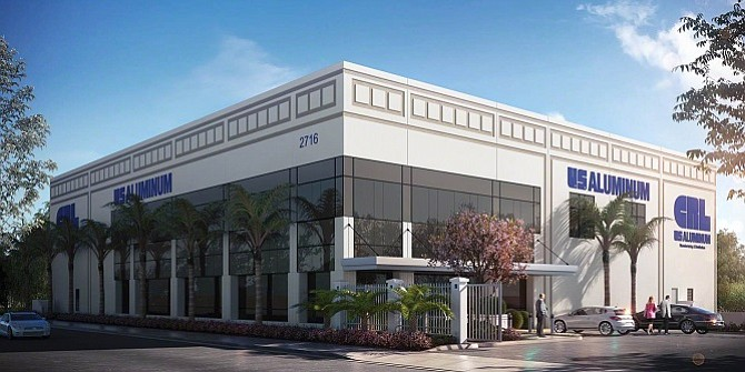 Rendering of CRL-U.S. Aluminum's 2716 E. Vernon Ave. building in Vernon