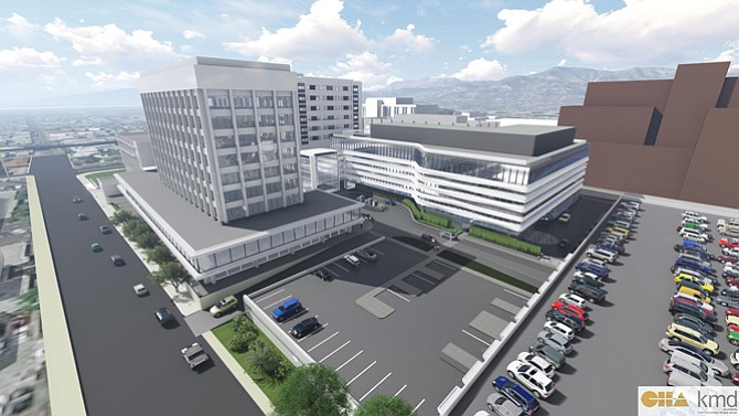 Rendering of Hollywood Hospital