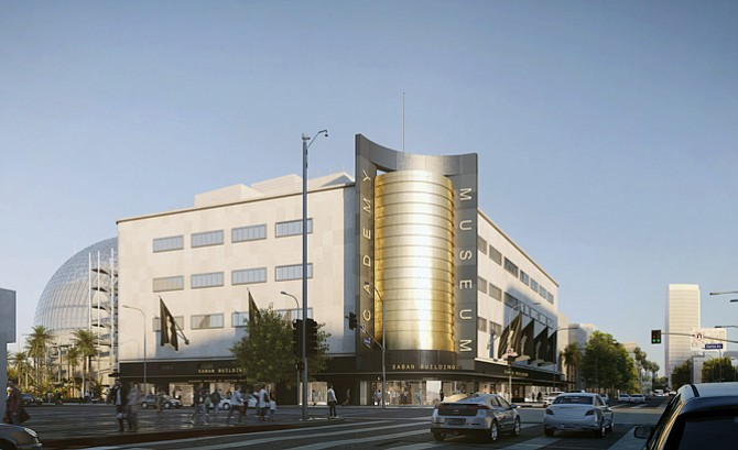 Rendering of the new Academy Museum of Motion Pictures.
