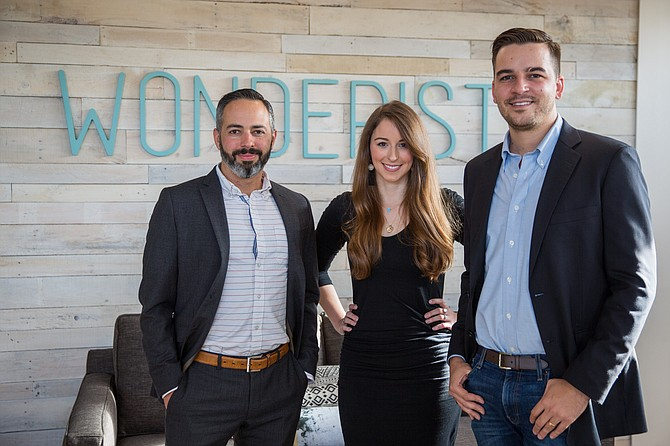 From left: Gabe Galvez, who founded Merger Labs, and Wonderist Agency cofounders Laura Maly and Michael Anderson have combined their companies.