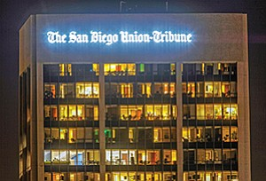 The San Diego Union-Tribune offices at 600 B St., in San Diego. Photo courtesy of The San Diego Union-Tribune