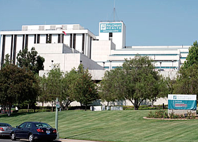 A plan calls for redeveloping the downtown Escondido campus of Palomar Health into housing and commercial space. Photo courtesy of Palomar Health