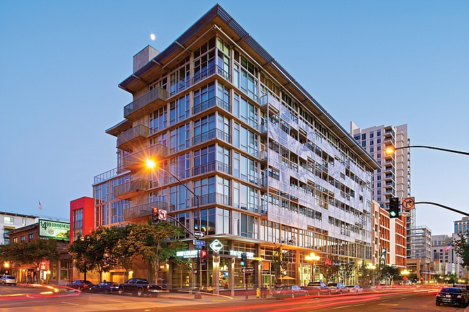 This building at 655 6th Ave., is one of OliverMcMillan's San Diego projects. Photo courtesy of Oliver McMillan