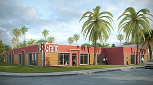 Rendering shows 704 E. Grand Ave. Rendering courtesy of Kristi Byers