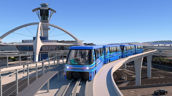 Rendering of the planned People Mover at LAX