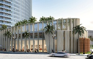 Rendering shows Animae restaurant coming to Pacific Gate condominiums. Rendering courtesy of Pacific Gate