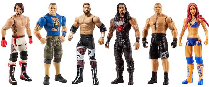 Mattel Inc.'s WWE action figures.