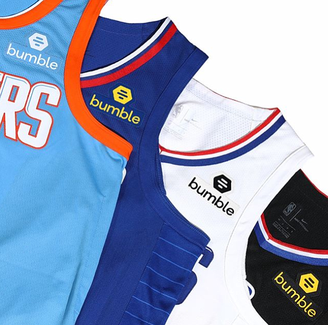 83d66787e9b Bumble on Clippers Jersey Patch | Los Angeles Business Journal