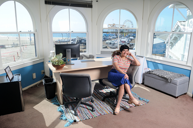 Negin Singh in her office in Santa Monica in 2018 when she became executive director.