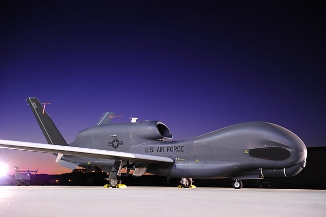 Northrop Grumman's Global Hawk remote aircraft