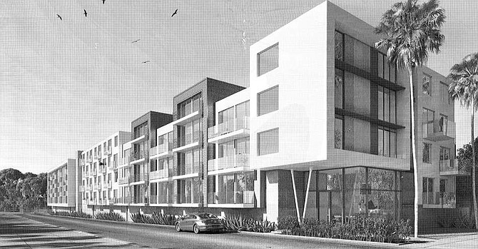 Rendering of 11036 W. Moorpark St. project.