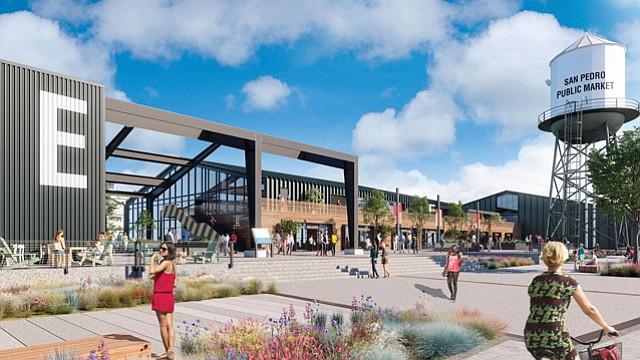 Rendering of San Pedro Public Market design.