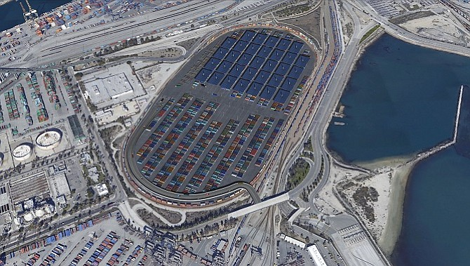 Rendering of the Port of Los Angeles
