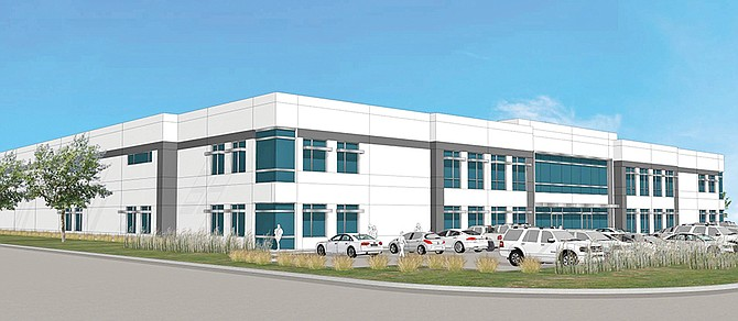 Rendering shows the industrial project BLT Enterprises is building in Kearny Mesa. Rendering courtesy of BLT Enterprises