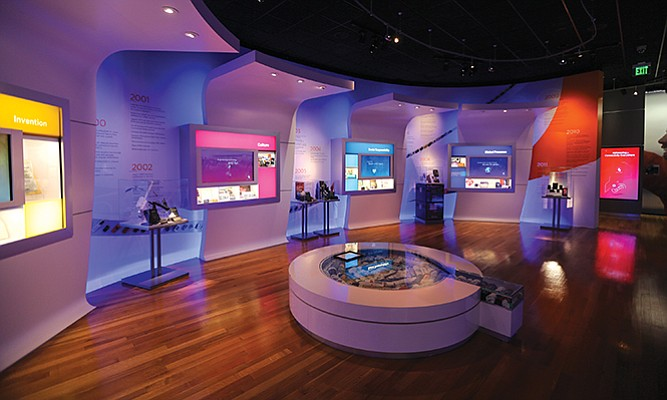 Tech giant Qualcomm Inc. documents its evolution in a museum at its headquarters.