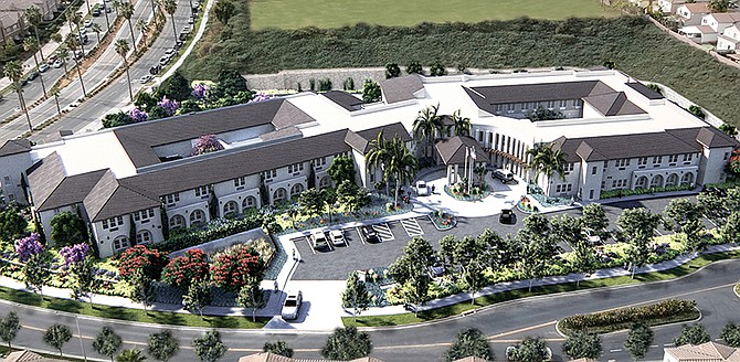 Rendering shows Sienna at Otay Ranch senior living project under construction in Chula Vista. Rendering courtesy of Douglas Wilson Companies