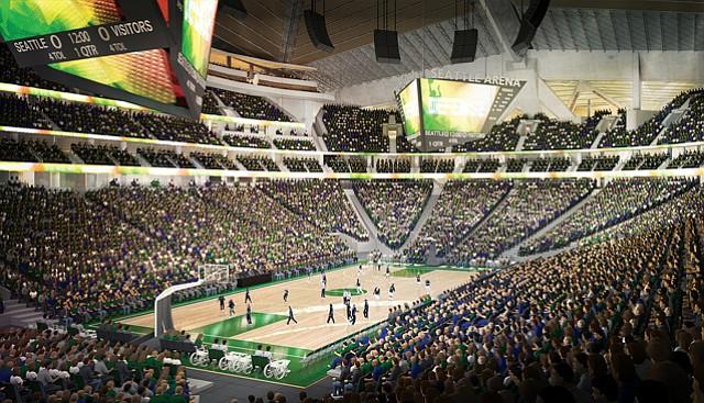 KeyArena Rendering: Oak View hopes to lure NBA team as tenant.