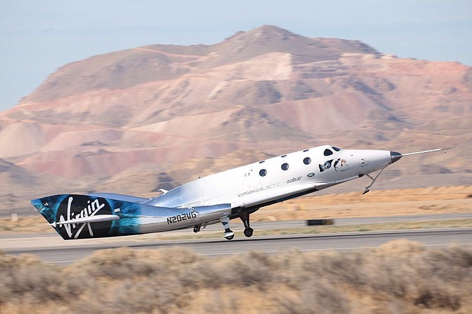 Virgin Galatic's VSS Unity at touchdown.