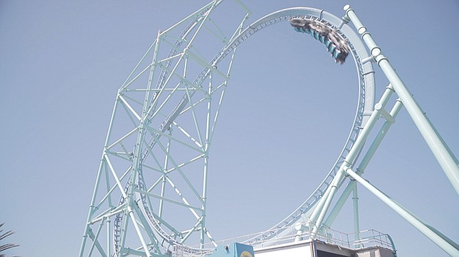 SeaWorld's newest thrill ride, Electric Eel, is set to open May 12. Photo courtesy of SeaWorld