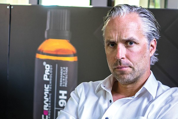 """We're growing so fast right now that it's hard to keep up,"" says Peter Diebitsch, founder and CEO of Ceramic Pro in San Diego. The company is estimating $22 million in gross revenue this year. Photos courtesy Ceramic Pro"