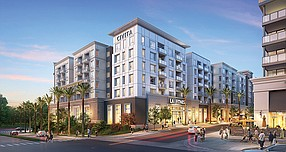 Rendering shows Siena and Stylus Apartments in Civita. Rendering courtesy of Sudberry Properties