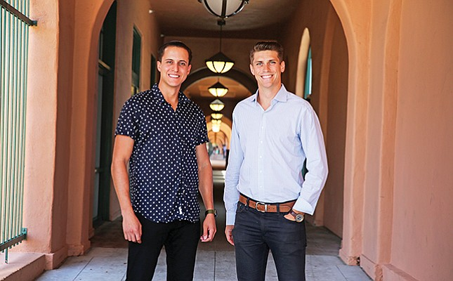 Trust & Will co-founders Cody Barbo, at left, and Daniel Goldstein, say their startup is modernizing the estate planning experience. Barbo is CEO; Goldstein, chief operating officer.
