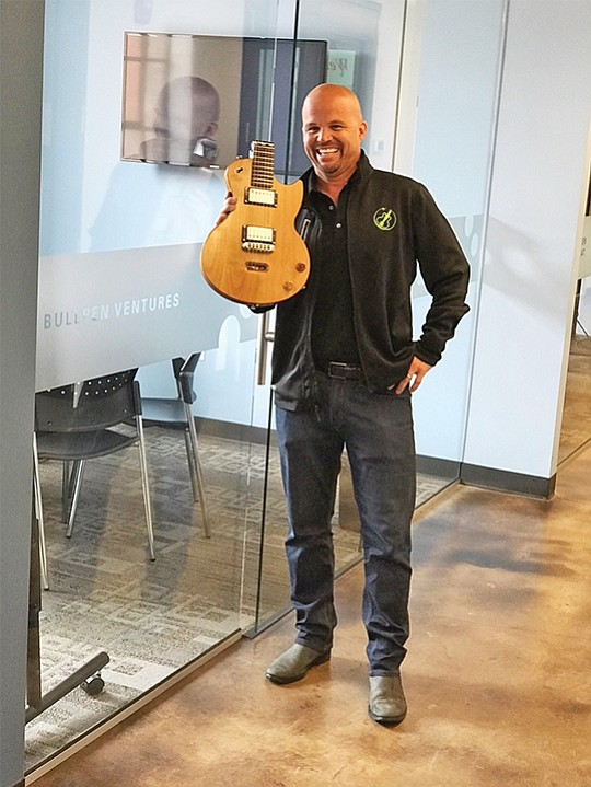 Longtime patent attorney Jonathan Spangler, CEO and founder of Ciari Guitars, was recently accepted into a Nashville-based accelerator to further develop his travel guitar prototype. Photo courtesy of Jonathan Spangler