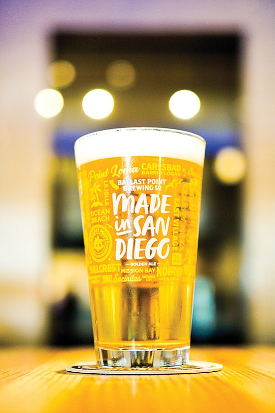 """Ballast Point Brewing Co. and San Diego Regional Economic Development Corp. are partnering up as part of a """"give back initiative."""" Ballast Point is brewing a special beer called """"Made in San Diego,"""" and will donate 50 cents to the EDC's Entrepreneurial Fund for every case sold. Photo courtesy Isabella Karamol"""