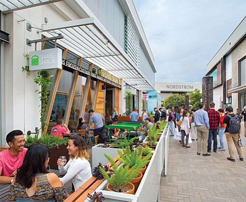 Westfield UTC mall is cited as an example of how retail is prospering in San Diego County. Courtesy of Westfield UTC