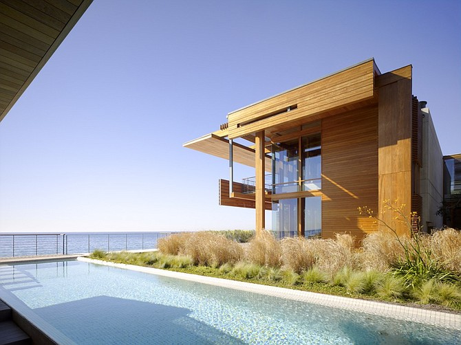 Richard Meier designed the beachfront property in Malibu