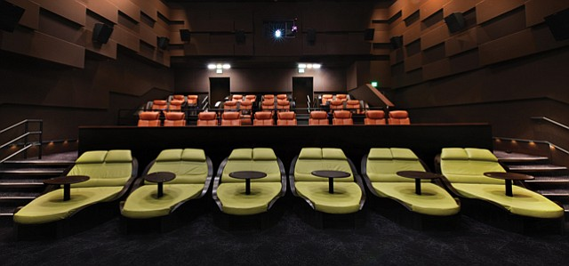 Cinema Comforts: IPic movie theaters feature 'pods' where audience members can recline and order food and beverages delivered to them during films.