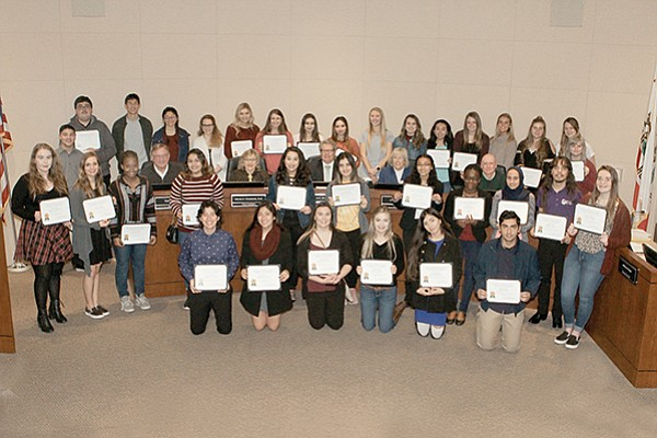 Forty high school seniors from 21 local high schools who wish to pursue a career as health care professionals were awarded scholarships from the Grossmont Healthcare District. Photo courtesy of Grossmont Healthcare District