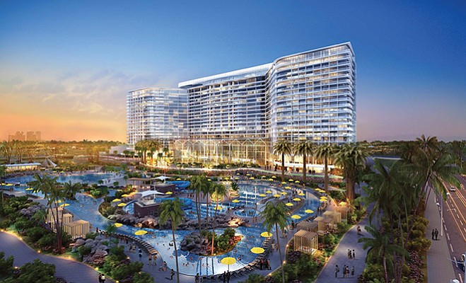 Rendering shows what a Chula Vista bayfront hotel and convention center might look like. Rendering courtesy Port of San Diego