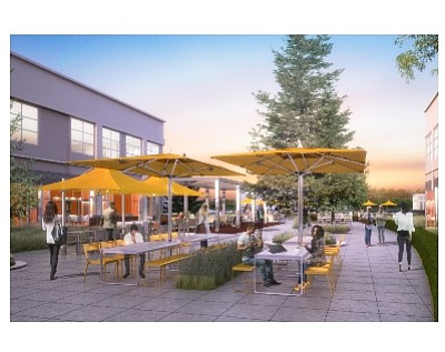 Rendering of former Broadcom space at UCI Research Park