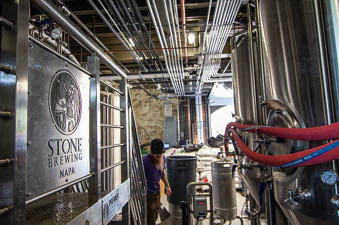 Stone Brewery, which is based in Escondido, officially opens its newest restaurant and brewing facility in Napa, California. 